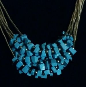 Sterling Silver/Turquoise Multi-strand Necklace
